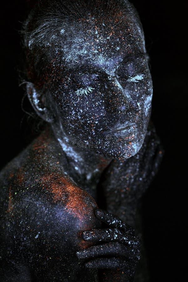 Κλείστε επάνω το UV αφηρημένο μακρινό διάστημα πορτρέτου στοκ φωτογραφίες με δικαίωμα ελεύθερης χρήσης