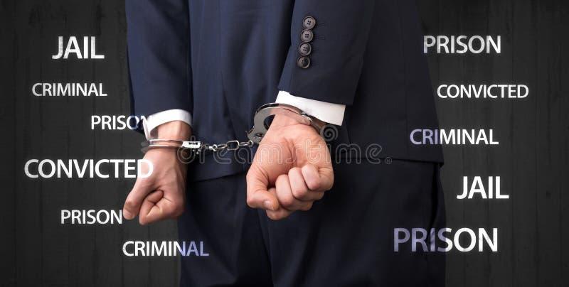 Κλείστε καταδικασμένος με τις ετικέτες και τις χειροπέδες στοκ φωτογραφία με δικαίωμα ελεύθερης χρήσης