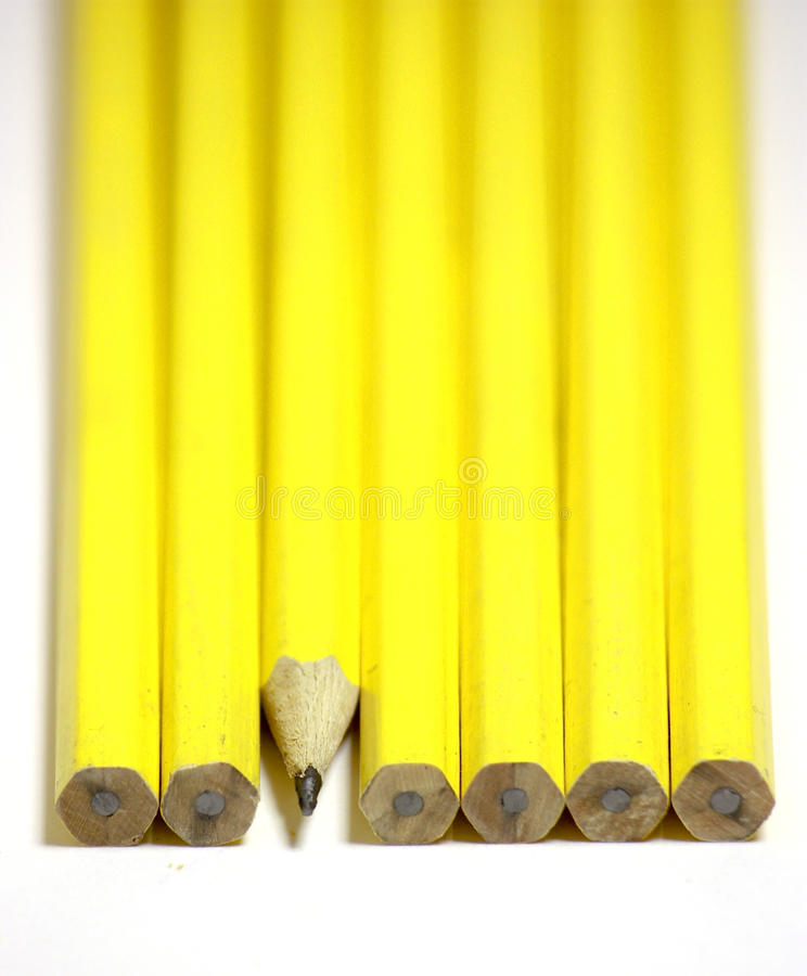 κλείστε τα μολύβια γραμμώ στοκ εικόνα με δικαίωμα ελεύθερης χρήσης