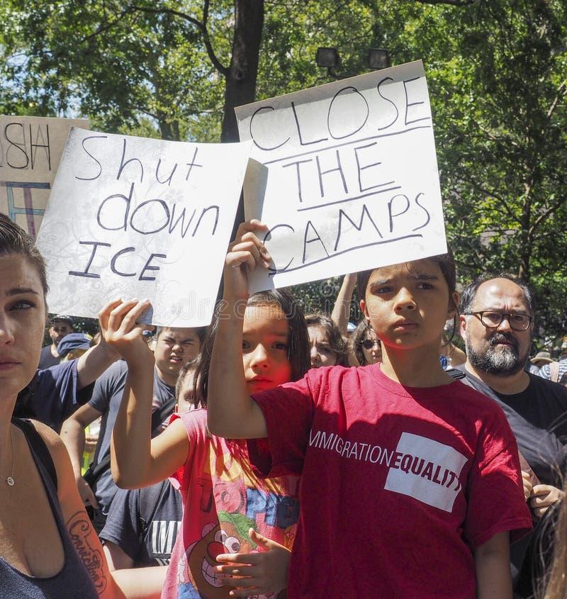 Κλείστε τη διαμαρτυρία στρατόπεδων στοκ εικόνες