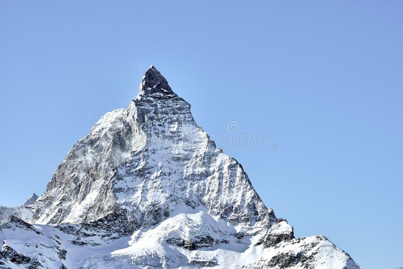 Κλείστε το βλέμμα στο ανατολικό πρόσωπο Matterhorn από Zermatt στοκ εικόνα με δικαίωμα ελεύθερης χρήσης