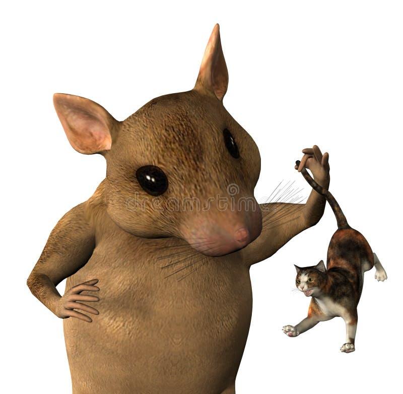 κλείστε το καλλιεργημένο ποντίκι φαντασίας διανυσματική απεικόνιση