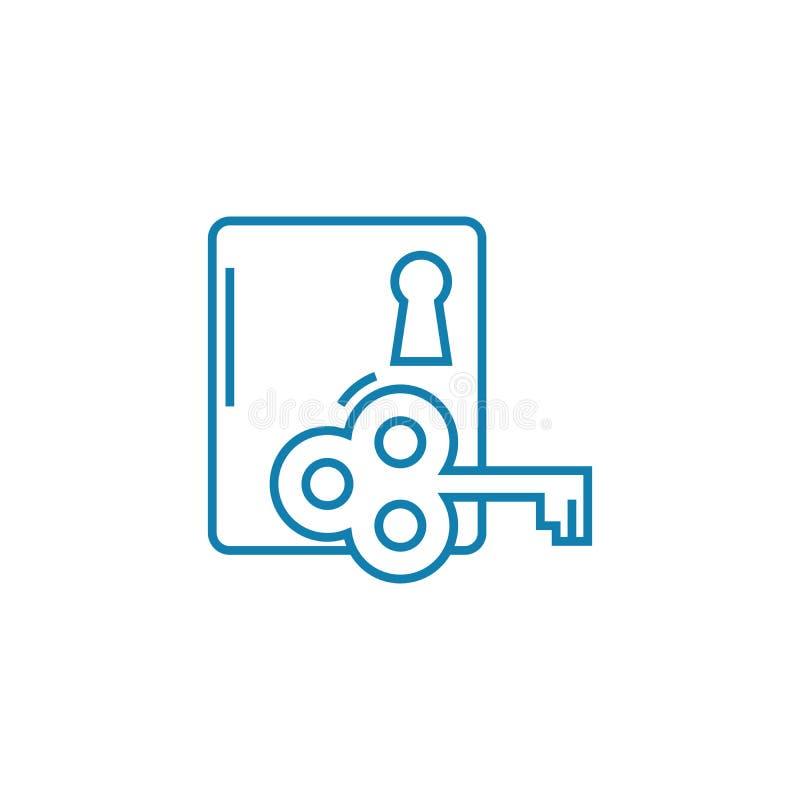 Κλειδί για την επίλυση της γραμμικής έννοιας εικονιδίων προβλήματος Κλειδί για την επίλυση του διανυσματικού σημαδιού γραμμών προ ελεύθερη απεικόνιση δικαιώματος