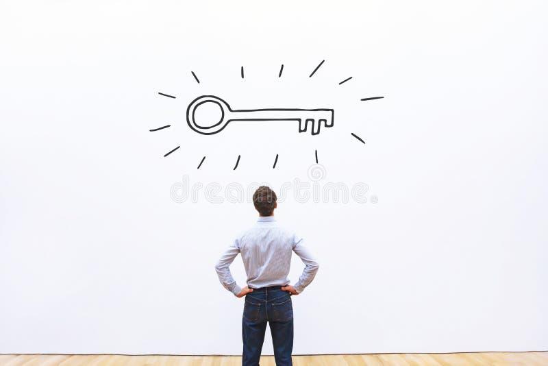 Κλειδί για την επιτυχία, έννοια εμπορικής ευκαιρίας στοκ εικόνα