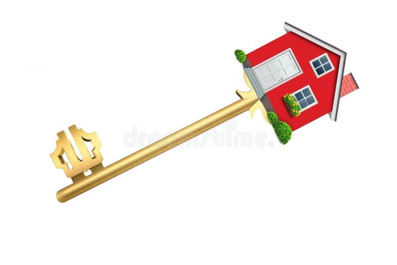Κλειδί + σπίτι = keyhouse στοκ εικόνα
