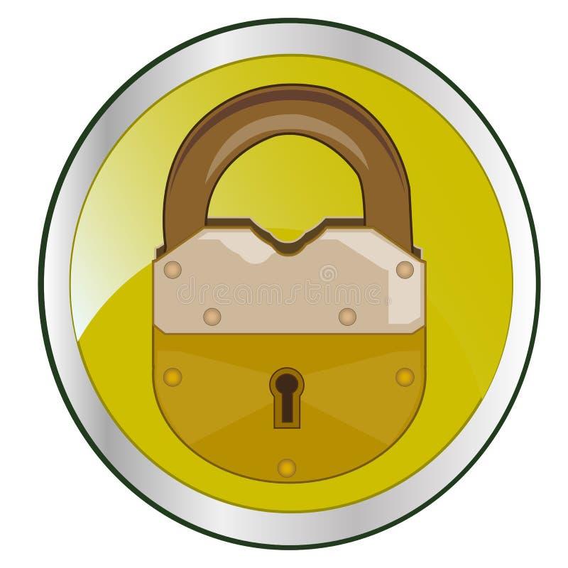 Κλειδαριά πλήκτρο το ΟΝ ελεύθερη απεικόνιση δικαιώματος