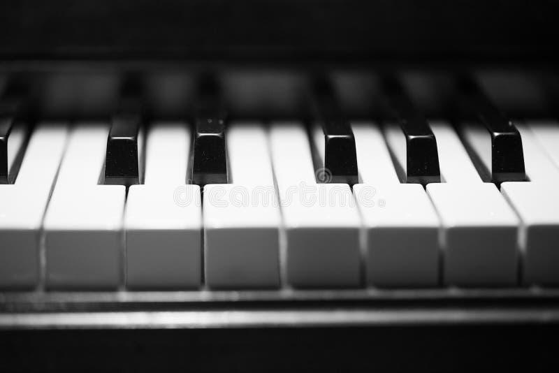 Κλειδιά στο μεγάλο πιάνο μωρών στοκ φωτογραφίες με δικαίωμα ελεύθερης χρήσης