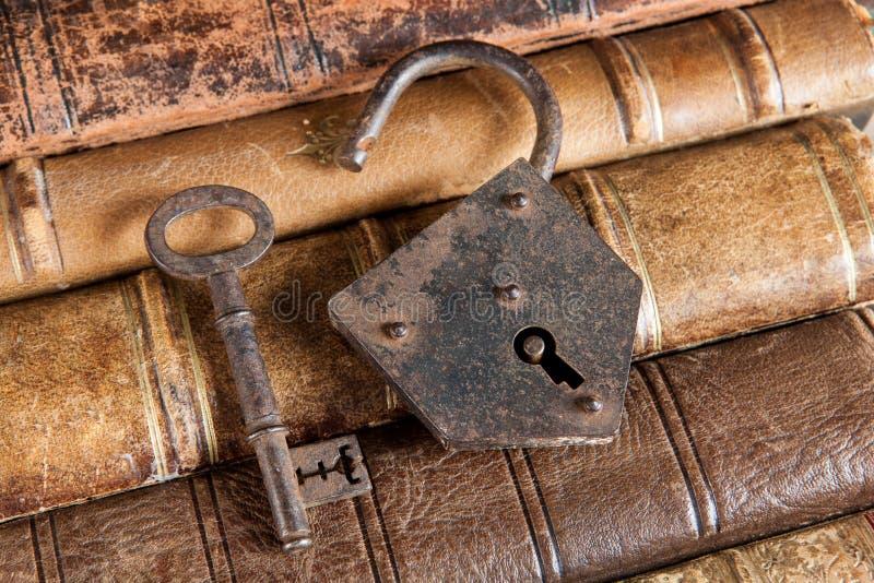 Κλειδωμένα βιβλία στοκ φωτογραφία με δικαίωμα ελεύθερης χρήσης
