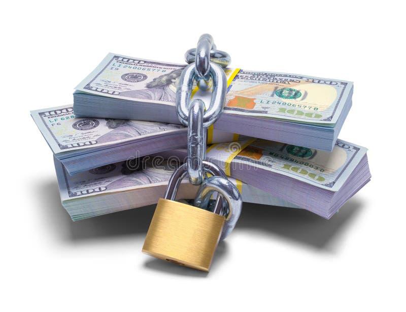 κλειδωμένα χρήματα επάνω στοκ φωτογραφίες
