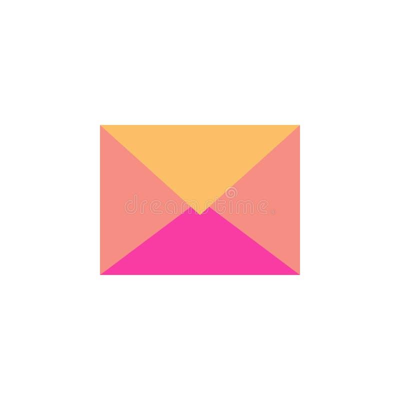 Κλειστός φάκελος ταχυδρομείου που απομονώνεται στο άσπρο υπόβαθρο διανυσματική απεικόνιση