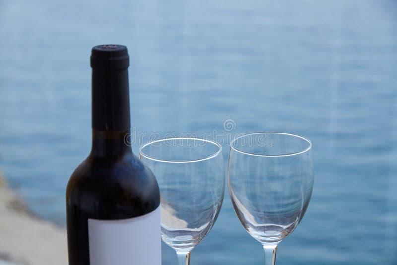 Κλειστό μπουκάλι κρασιού στοκ φωτογραφίες με δικαίωμα ελεύθερης χρήσης