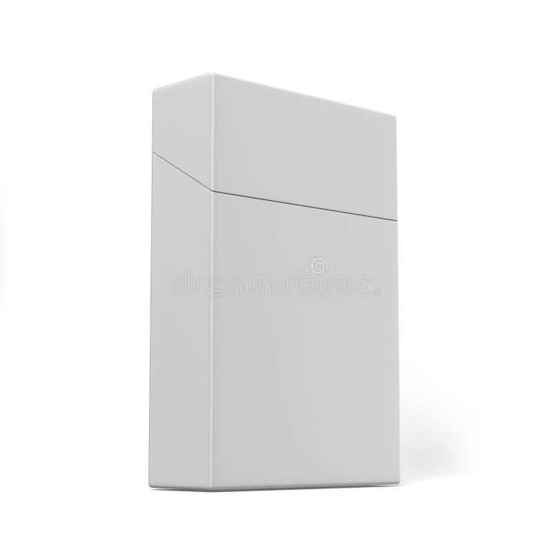 Κλειστό πακέτο των τσιγάρων που απομονώνονται σε ένα άσπρο υπόβαθρο για τη χλεύη επάνω και το σχέδιο τυπωμένων υλών η τρισδιάστατ ελεύθερη απεικόνιση δικαιώματος