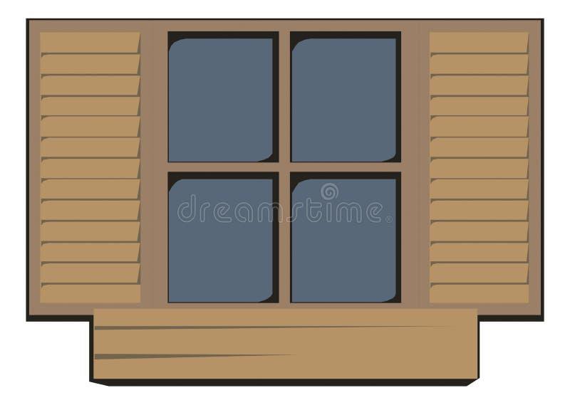 κλειστό παράθυρο ξύλινο στοκ φωτογραφία με δικαίωμα ελεύθερης χρήσης