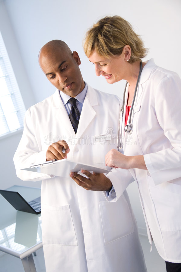 κλινική έκθεση ανάλυσης στοκ εικόνα