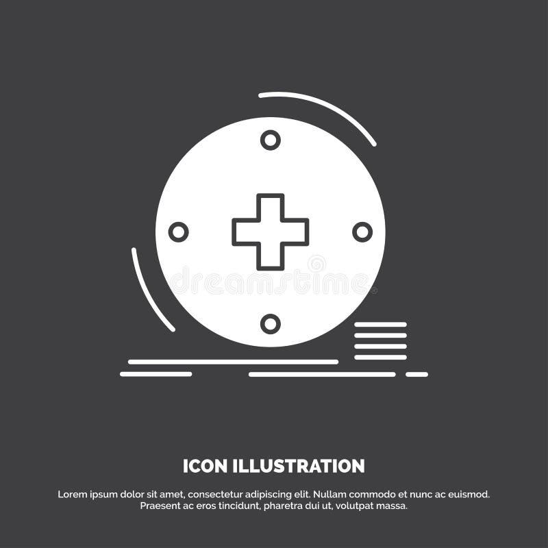 Κλινικός, ψηφιακός, υγεία, υγειονομική περίθαλψη, εικονίδιο τηλεϊατρικής glyph διανυσματικό σύμβολο για UI και UX, τον ιστοχώρο ή διανυσματική απεικόνιση