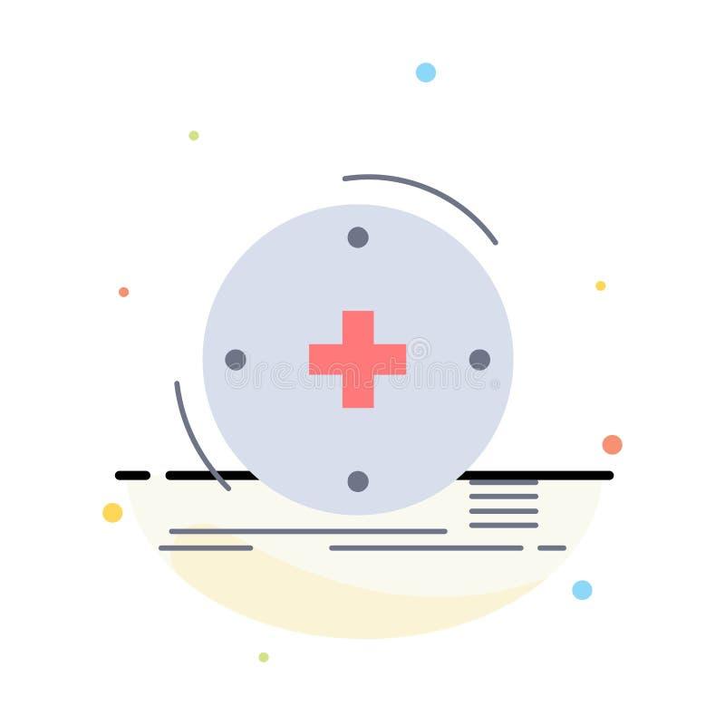Κλινικός, ψηφιακός, υγεία, υγειονομική περίθαλψη, επίπεδο διάνυσμα εικονιδίων χρώματος τηλεϊατρικής απεικόνιση αποθεμάτων
