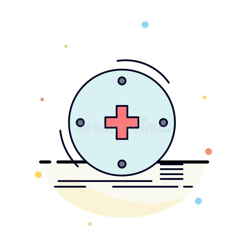 Κλινικός, ψηφιακός, υγεία, υγειονομική περίθαλψη, επίπεδο διάνυσμα εικονιδίων χρώματος τηλεϊατρικής διανυσματική απεικόνιση