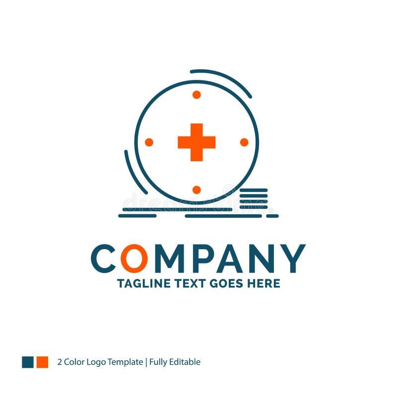 Κλινικός, ψηφιακός, υγεία, υγειονομική περίθαλψη, σχέδιο λογότυπων τηλεϊατρικής ελεύθερη απεικόνιση δικαιώματος