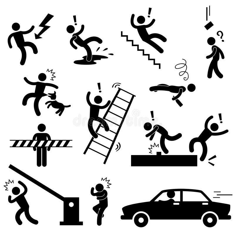 κλονισμός ασφάλειας κινδύνου προσοχής ολισθηρός ελεύθερη απεικόνιση δικαιώματος