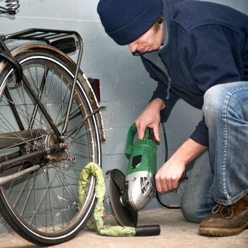 κλοπή ποδηλάτων στοκ φωτογραφία