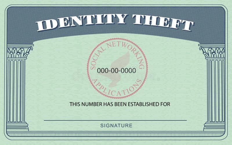 κλοπή ταυτότητας καρτών ελεύθερη απεικόνιση δικαιώματος