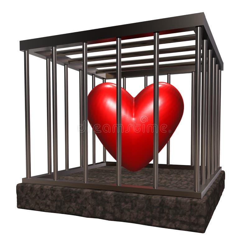 Κλουβί αγάπης απεικόνιση αποθεμάτων