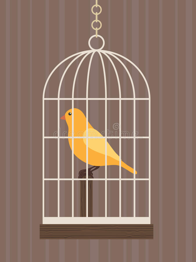 κλουβί πουλιών διανυσματική απεικόνιση