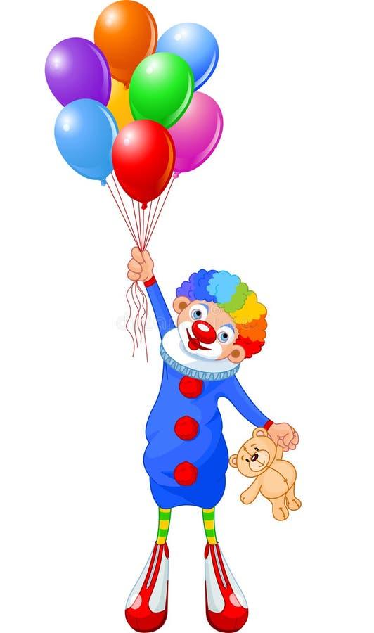 Download Κλόουν και μπαλόνια απεικόνιση αποθεμάτων. εικονογραφία από τσίρκο - 13175293