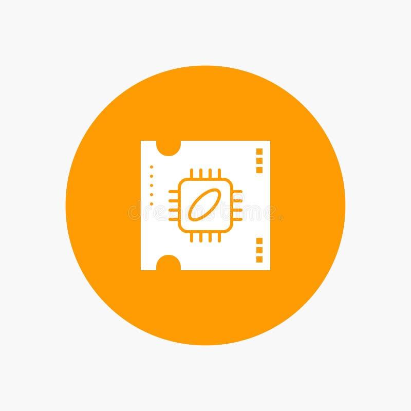 ΚΜΕ, μικροτσίπ, επεξεργαστής, τσιπ επεξεργαστών διανυσματική απεικόνιση