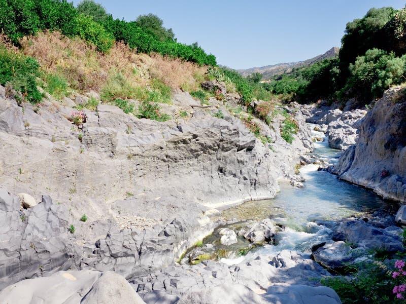 κοίτη ποταμού Σικελία πο&ta στοκ φωτογραφία με δικαίωμα ελεύθερης χρήσης