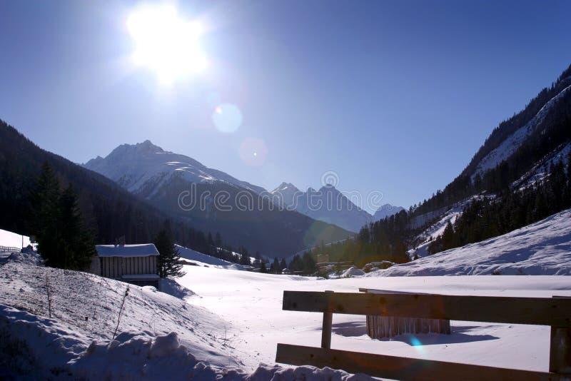 κοιλάδα βουνών austia ischgl στοκ εικόνες