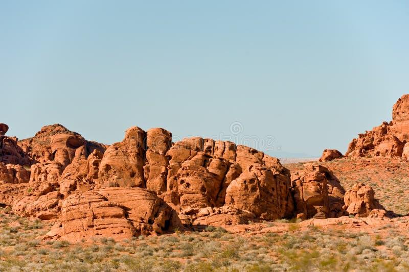 κοιλάδα βράχου σχηματισμών πυρκαγιάς στοκ εικόνα με δικαίωμα ελεύθερης χρήσης