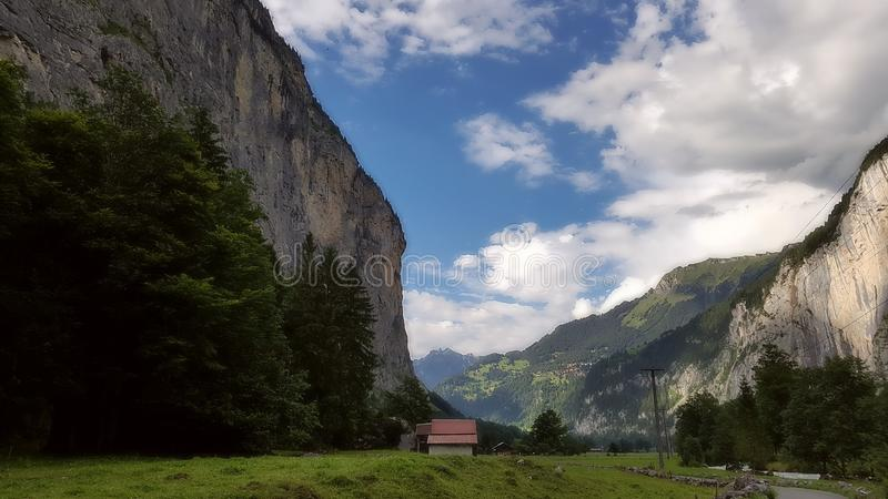 Κοιλάδα Ελβετία Lauterbrunnen στοκ φωτογραφία