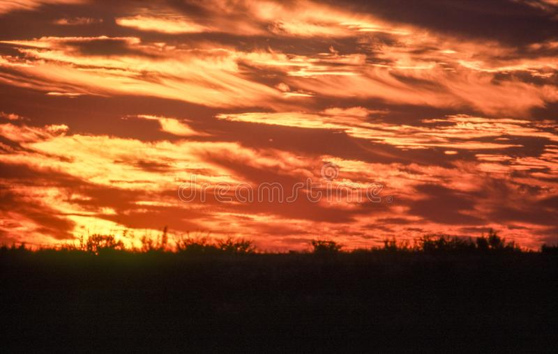 Κοιλάδα εξαπάτησης στο ηλιοβασίλεμα στοκ εικόνα