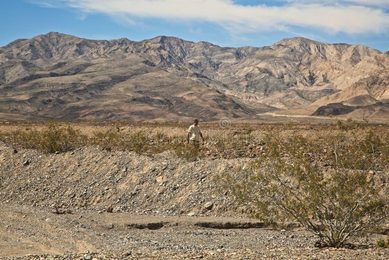 Κοιλάδα Καλιφόρνια θανάτου πεζοπορίας στοκ εικόνες