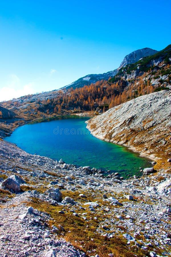 Κοιλάδα λιμνών LedviÄ  KE Triglav το φθινόπωρο, Σλοβενία στοκ εικόνες με δικαίωμα ελεύθερης χρήσης