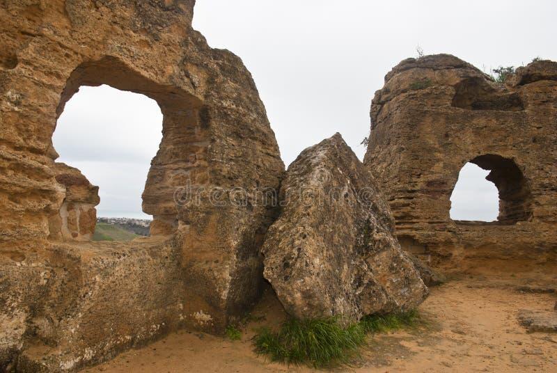 κοιλάδα ναών του Agrigento Ιταλία Σικελία στοκ φωτογραφία με δικαίωμα ελεύθερης χρήσης