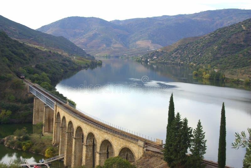 κοιλάδα ποταμών douro στοκ εικόνα