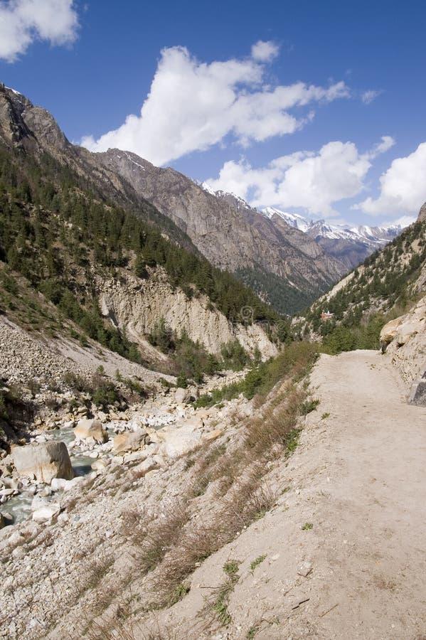 κοιλάδα ποταμών ganga bhagirathi στοκ φωτογραφίες