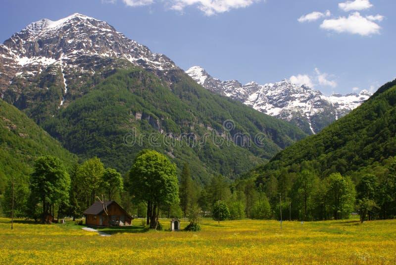 Κοιλάδα στις Άλπεις στοκ φωτογραφία