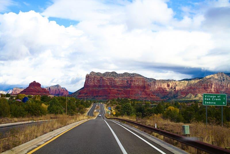 Κοιλάδα στο sedona, Ηνωμένες Πολιτείες στοκ εικόνα