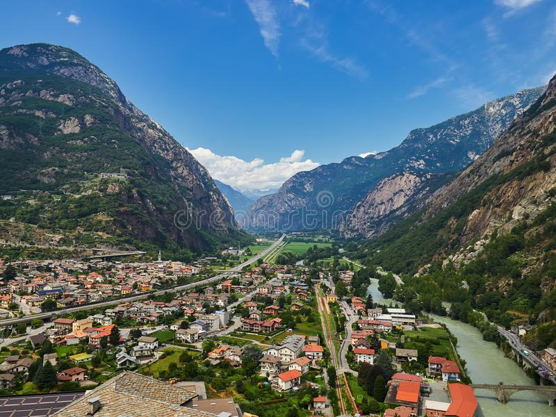 κοιλάδα της Ιταλίας aosta στοκ εικόνα