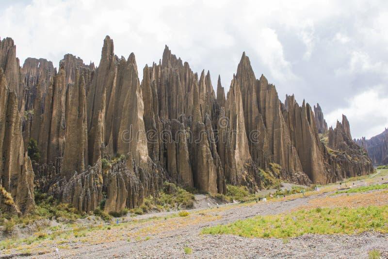 Κοιλάδα του θανάτου Valle de Las Animas στο Λα Παζ, Βολιβία Σχηματισμοί βράχου στοκ εικόνα με δικαίωμα ελεύθερης χρήσης