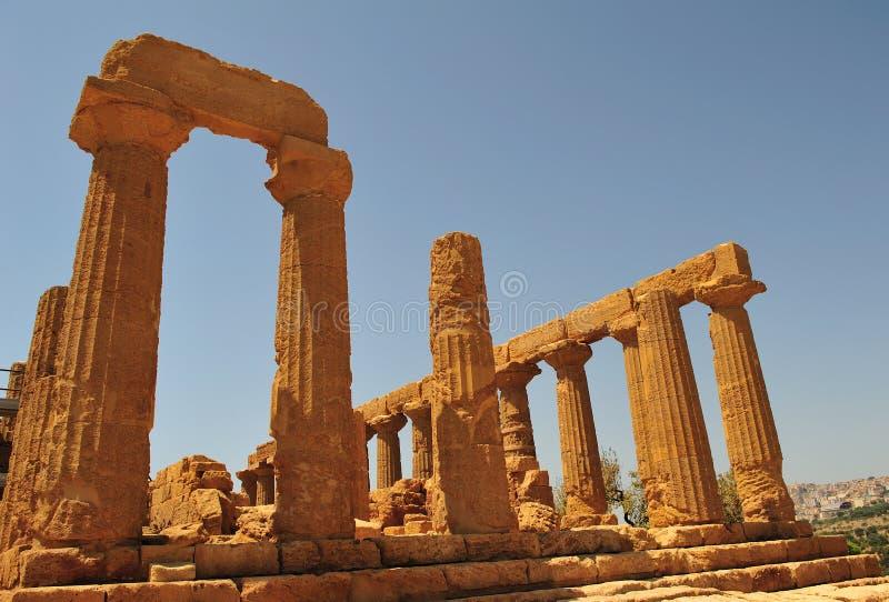 κοιλάδα 2 ναών του Agrigento στοκ φωτογραφία