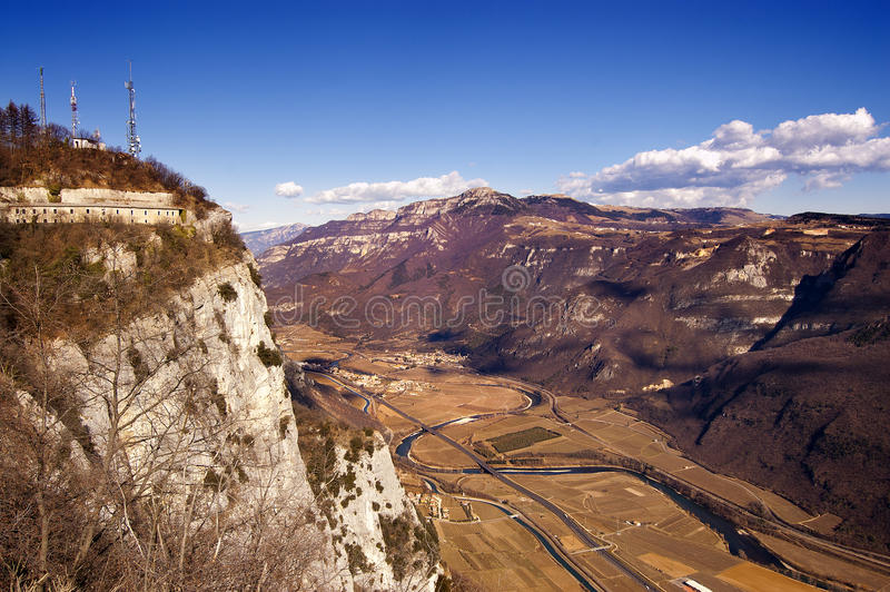 Κοιλάδα Adige επισκόπησης - Ιταλία στοκ εικόνες