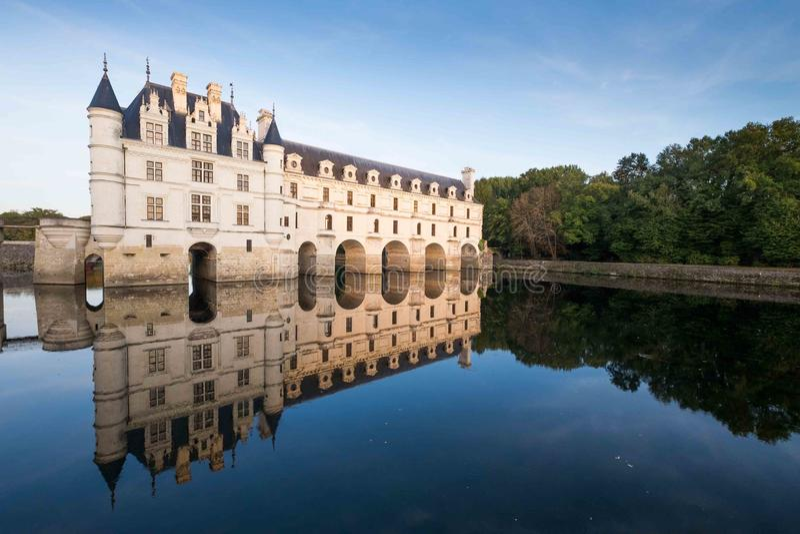 κοιλάδα chenonceau de Γαλλία Loire πυργων στοκ εικόνα με δικαίωμα ελεύθερης χρήσης