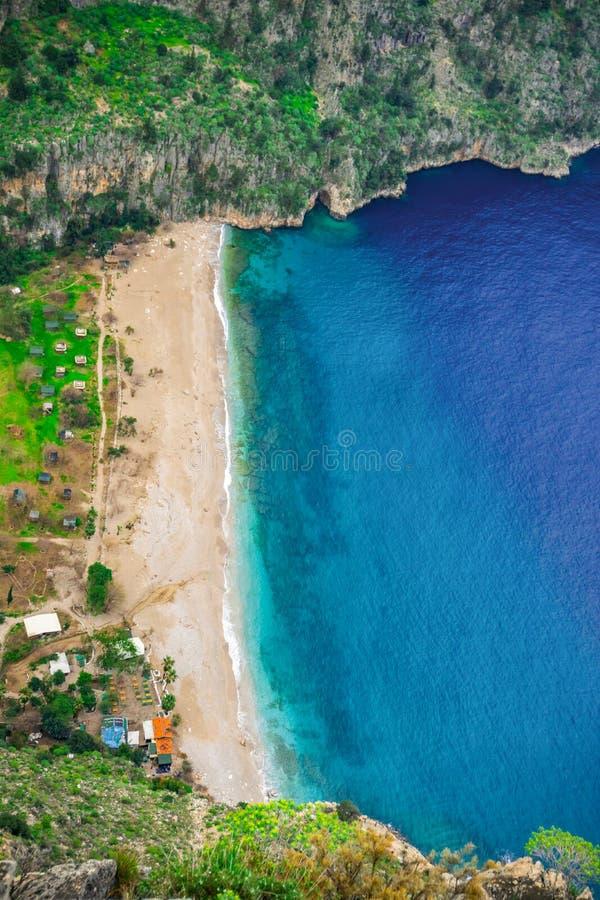 Κοιλάδα Oludeniz, Fethiye, Mugla, Τουρκία πεταλούδων Τρόπος Lycian Έννοια καλοκαιριού και διακοπών στοκ εικόνα