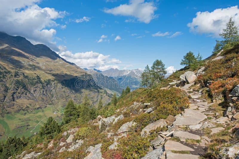 Κοιλάδα Passeier, ιταλικές Άλπεις, Sooth Τύρολο, κοντά στο ορεινό χωριό Pfelders στοκ φωτογραφίες με δικαίωμα ελεύθερης χρήσης