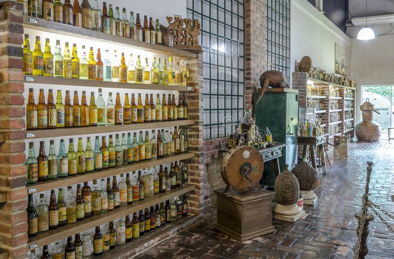 ΚΟΙΛΑΔΑ VERDE, BETIM, Βραζιλία-μουσείο του cachaca στοκ φωτογραφία