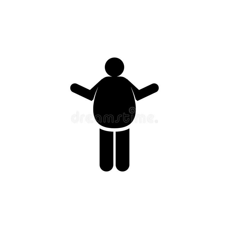 Κοιλιά, bloat, κοιλιακός, εικονίδιο στομαχιών r r r απεικόνιση αποθεμάτων